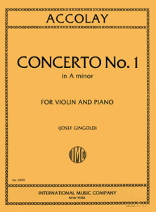 ACCOLAY, Jean Batiste (1845-1910) Violin Concerto No. 1 in A minor (GINGOLD)